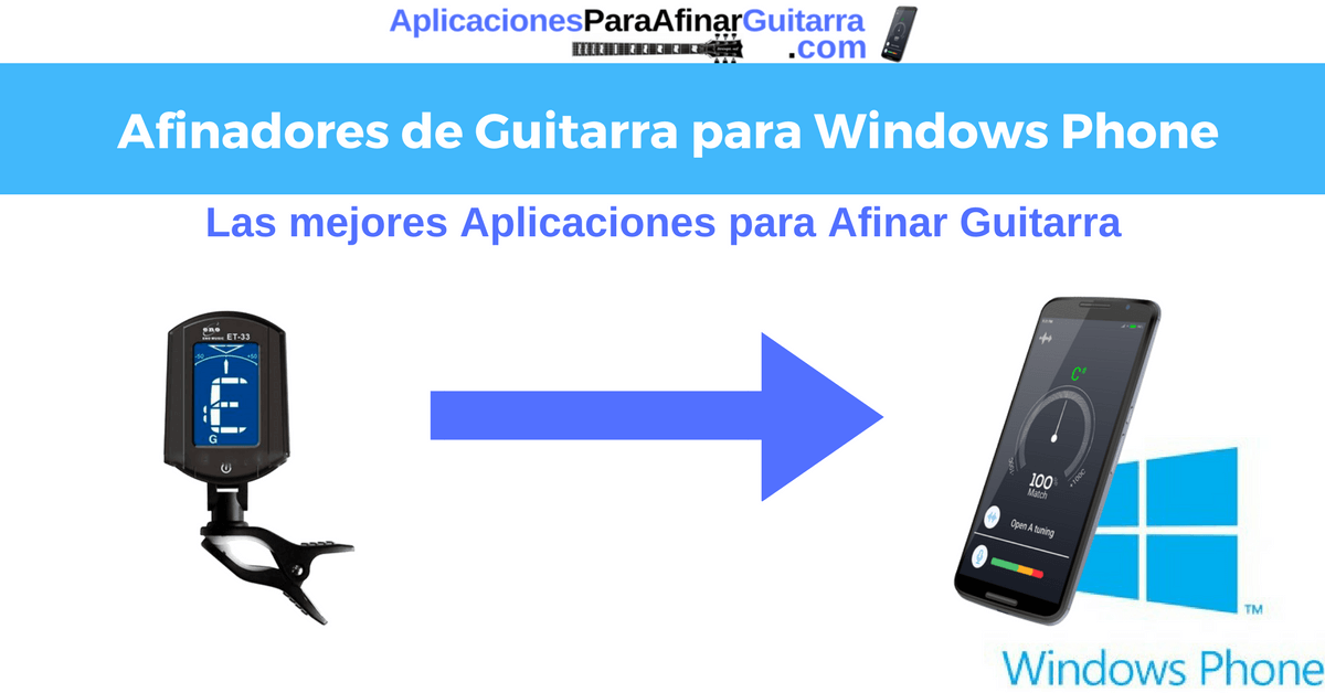 afinador para widows phone y windows 10 mobile